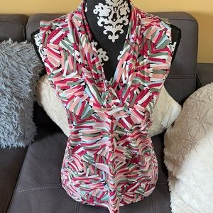 ANNE KLEIN Colorful Tank Blouse Size Small